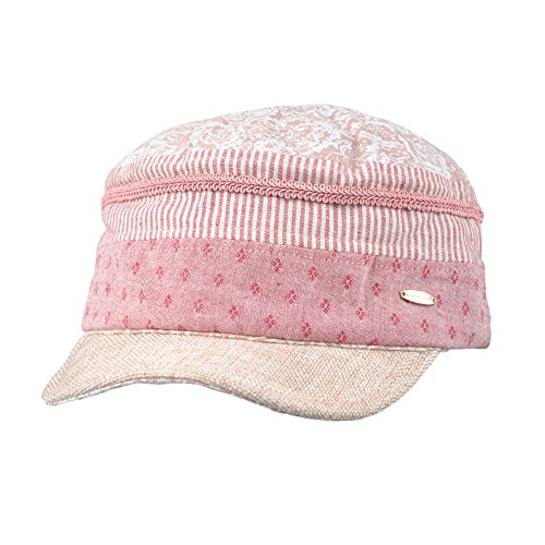 Kenmont Summer Women Lady Cadet Military Cap Cotton Visor Sun Hat Damen Baseball Cap Mehrfarbig Pink One Size