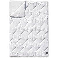 ODEJA 200 x 140 cm Home Primar grosor doble colcha para cama individual, 1 unidades, marfil
