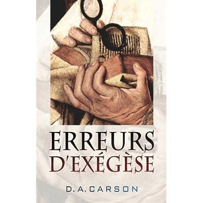 Erreurs d'exégèse (Exegetical Fallacies)