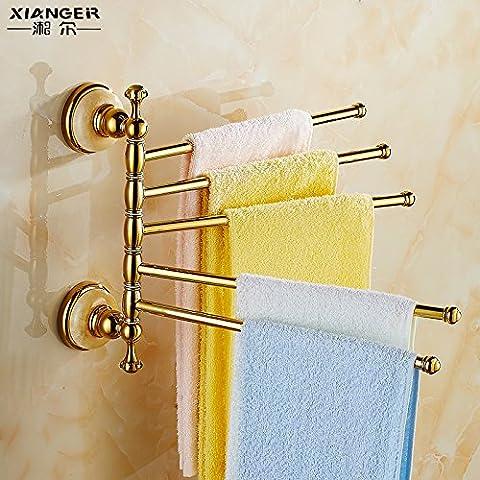 Stile europeo porta asciugamani rack rame antico dorato asciugamano asciugamano