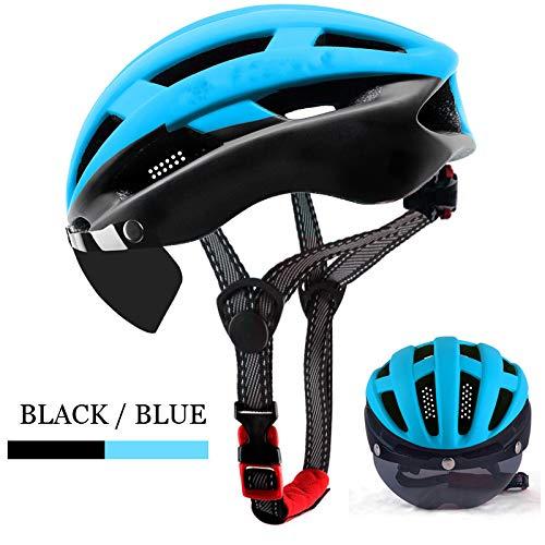 BTAWM Casco Casco de Ciclismo Casco de Bicicleta Ultraligero Hombres Mountain Road Mujeres MTB Gafas...
