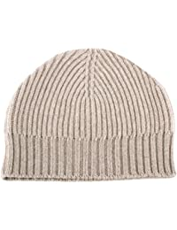 7d2b8864d27 Love Cashmere Ladies Ribbed 100% Cashmere Beanie Hat - Light Natural - Made  in Scotland