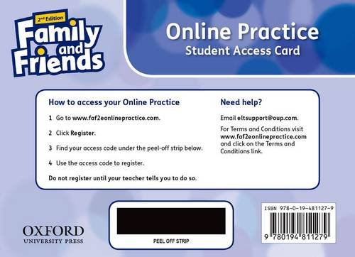 Family and Friends: Level 2: Online Practice Student Access Card