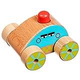 Lucy&Leo Quietscher Push-Along Auto mit Sound Holz Pädagogische Kleinkind Spielzeug Baby Junge und Baby Mädchen ab 6 Monate Alt
