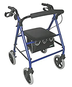 Aidapt Lightweight Rollator with Bag Blue (Eligible for VAT relief in the UK)