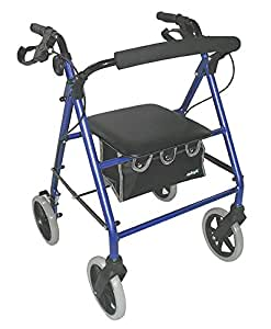Aidapt VP177A Leichtgewichtiger Rollator - Abnehmbare Rückenlehne, blau