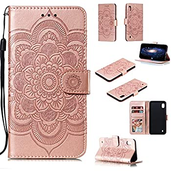 SainCat Case Compatible with Samsung Galaxy S8,Luxury Glitter Zipper Pocket PU Leather Flip Stand Wallet Case Magnetic Protective Cover With Card Slots+Gold