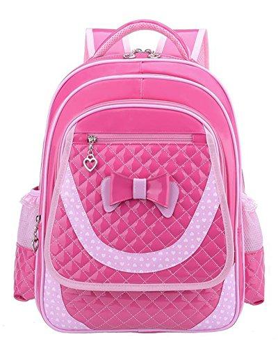 Mädchen Kindergartentasche Niedlich Prinzessin Schultasche Wasserdichter Kinderrucksäcke Rose Groß