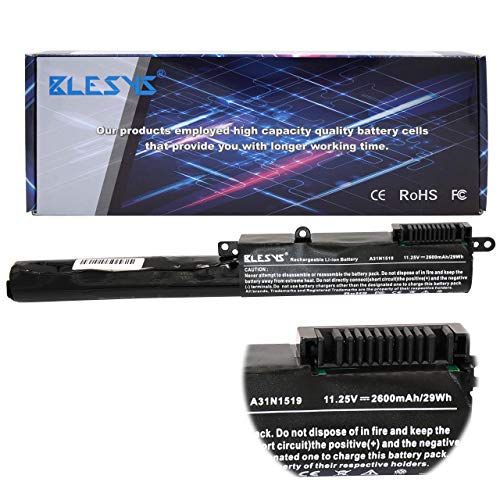 BLESYS - Akku ASUS A31N1519 Ersatz Laptop Akku für ASUS A540 A540L A540LA F540LA F540SA F540SA F540SC F540SC72 R540LA R540LA R540SA R540UP R540SA-XX022T (11.25V/2600MA) -