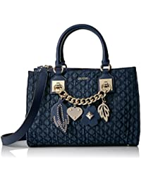 GUESS Stassie Denim Society Satchel 93bd951c7a51b