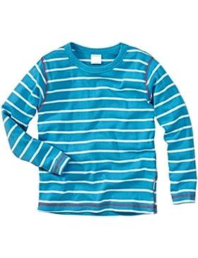 wellyou Ringel Langarm-Shirt türkis-weiss