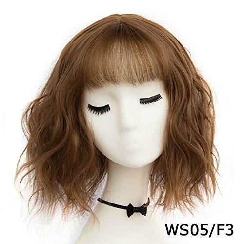 Der synthetische Short-Wellenförmige Perücken Damen Braun Schwarz Blond natürliche Haar-Perücken hitzebeständige Faser, AS 05 ()