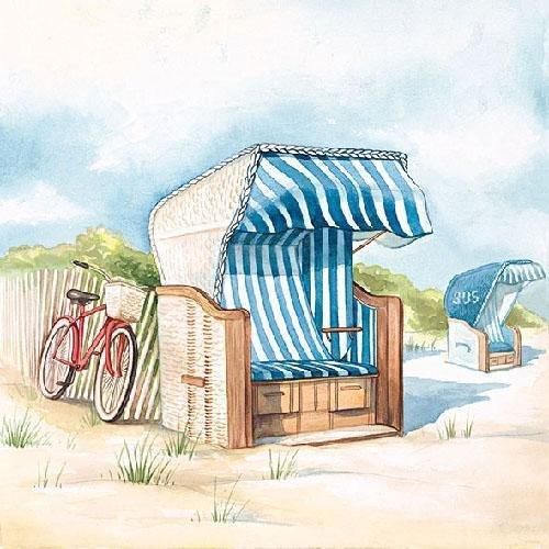 Ambiente Serviette Strandtag 5 Stück