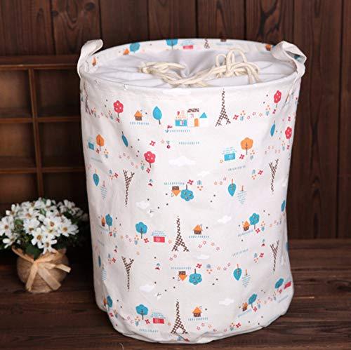 Aidebianli cesto portabiancheria in lino per biancheria da costruzione impermeabile, cestino per il riparo del fascio di giocattoli, secchio anti-polvere, 35x45cm