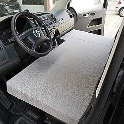 Klappmatratze für Vordersitze Volkswagen T4, T5 und T6 (Transporter, Multivan, Caravelle, California Beach, Eurovan)