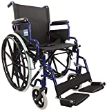 Aidapt Blue Self Propelled Steel Transit Chair (Eligible for VAT relief in the UK)