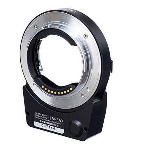 EWOOP adattatore per lente fotografica conmessa fuoco automatica LM EA7Techart 5.0 per obiettivi Leica M Zeiss M Voigtlander M su fotocamere Sony