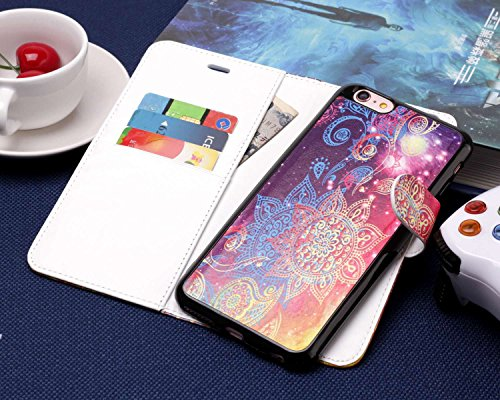 """TOCASO iPhone 6S Hülle, iPhone 6 Hülle Wallet Case iPhone 6S Hülle Rot iPhone 6S Schutzhülle iPhone 6 Case iPhone 6S Handyhülle Abnehmbar Backshell Case for iPhone 6 / iPhone 6S 4.7\"""" -Sonnenblume"""