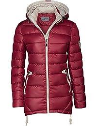 Chaqueta para mujer, abrigo acolchado largo, parka, chaqueta para entretiempo, con capucha