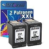 PlatinumSerie® 2x Druckerpatrone für HP 337 XL Black Officejet 100 6310 6315 H470 Pro K7100