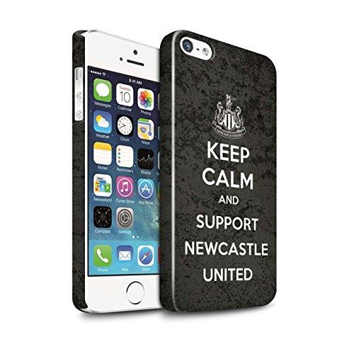 Officiel Newcastle United FC Coque / Clipser Brillant Etui pour Apple iPhone SE / Pack 7pcs Design / NUFC Keep Calm Collection Soutien