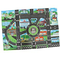 Toygogo Multicolored Track System Map Pretend Game Kid City Traffic Play Mat Toy