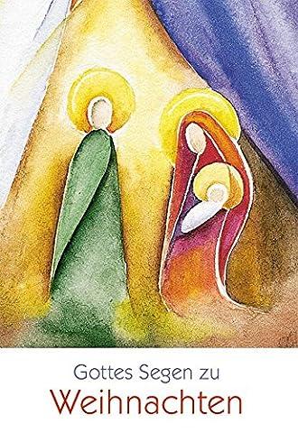 Weihnachtskarte Gottes Segen zu Weihnachten (6 Stck)