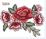 Tia-Ve Stickerei-Blumenbeet Annähen Abzeichen Tasche Hut von Jeans Kleid Applique Handwerk Kragen Krawatten