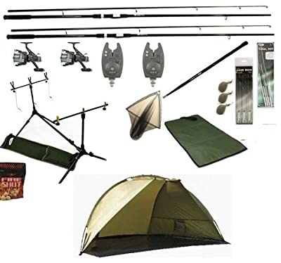 OAKWOOD Complete Carp Fishing Setup Deluxe & Shelter/Bivvy Ready To Start Carp Fishing by OAKWOOD