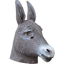 Queenshiny® máscara de látex animales (Burro)