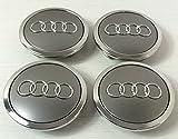Set von 4 Audi Leichtmetallrad Badges Central Radkappen grau 69 mm 4B0601170A S3 S4 A2 A3 A4 A6 A8 TT RS4 Q5 Q7, S3 S4 A6 S6 RS6 TT und weitere Modelle
