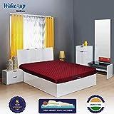 Wake-Up Foam Double Mattress -72X48X4 Inch, Maroon