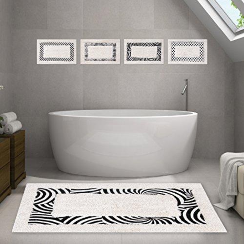 Badematte Fußmatte Badvorleger Badteppich Duschmatte 45 x 70 cm Zebra