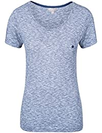 Mountain Warehouse Thurlestone Womens Stripe Short Sleeved Top - Natural Fibres Ladies Tshirt, 100% Cotton Summer Tee, Lightweight, Breathable - for Travelling, Walking