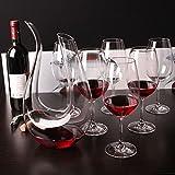 Dekantierer,Smaier 1200ml Karaffe Wein Belüfter Dekanter Aerator Set Dekantiergefäß Wein Geschenk - 4