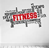 Best Motivational Wall Decals - PRO FITNESS Motivational Wall Decal Gym Quote 6 Review