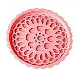 TAOtTAO Leachate Plate Doppelschicht-multifunktionales Teller-Kissen-Topf-Kissen für Haushalts-Kessel und W (Rosa)
