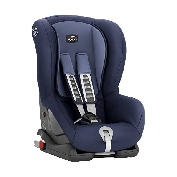 Britax Römer DUO PLUS Group 1 (9-18kg) Car Seat - Moonlight Blue  Comfort without compromise - deep, padded side wings, multi-position recline Perfect fit - height-adjustable headrest and harness with easy single-handed adjustment Lightweight - easy to transfer between cars 3