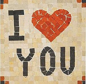 MOSAIKIT Kit de Mosaico Natural Completo - I Love You Gant