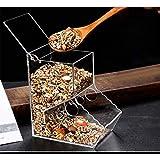 Etbotu Distributore di Cibo per Scoiattolo Mangiatoia per criceti Alimentatore Automatico con Fori di Fissaggio per Riccio - A