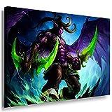 World of Warcraft Ilidan Leinwandbild LaraArt Bilder Mehrfarbig Wandbild 60 x 40 cm