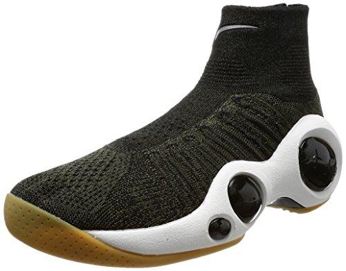 Nike Herren Flight Bonafide Gymnastikschuhe, Grün (Cargo Khakiblacksummit White), 40.5 EU - Nike Basketball-schuhe Flight Herren