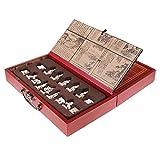 Sharplace Dynastie Krieg -Historisches Chinesisches Schachspiel Set mit 32 Schachfiguren