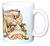 """Common Eel"" Hilarious ""Crusty Old Coarse Fish"" 11 Ounce Earthenware Coffee Mug. An Exclusive Original Collectable by Cute Creatures Ltd."