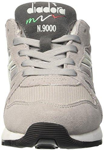 Diadora N9000 Y, Sneaker Bas du Cou Mixte Enfant Gris (Grigio Paloma/grigio Alaska)