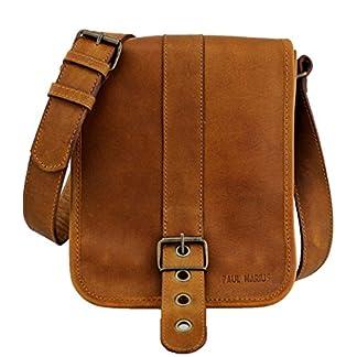 51lcwpCkhlL. SS324  - LE POINÇONNEUR Marrón Natural Bolso bandolera de piel (tamaño pequeño, estilo vintage) PAUL MARIUS Vintage & Retro