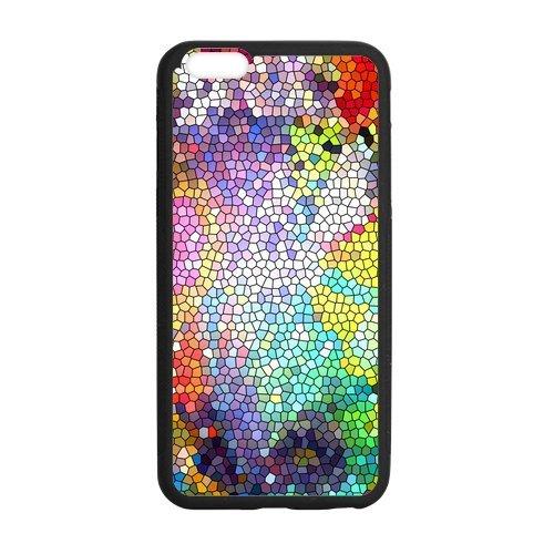coloré verre design Étui pour le Iphone 6Plus, Personalized Coque pour iPhone 6Plus 5,5pouces, Customize vitre en verre coloré TPU Phone Case Étui Housse de Protection Étui Coque Cas