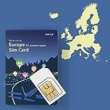 GMYLE GData - Tarjeta SIM Recargable 4G para Europa (1 GB, 10 días, 37 países y regiones)