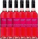 6er Paket - Schmetterlinge im Bauch Rosé 2018 - Weingut Kiefer | halbtrockener Roséwein | deutscher Sommerwein aus Baden | 6 x 0,75 Liter
