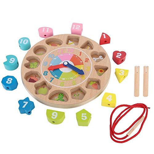 Zerodis- orologio giocattolo in legno primi giocattoli educativi orologi d'apprendimento numero orologio di ordinamento orologio matching toy regalo per 2 3 4 5 6 anni bambini ragazzo ragazza